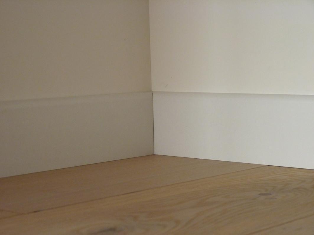 Plinthe Revêtue Blanc, Prête à Peindre   Parquet Saphir