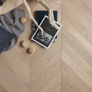 Authentic Tufeau French Oak Chevron Wood Flooring