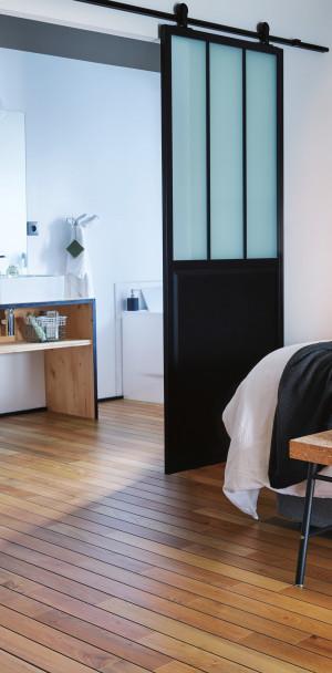 parquet brun parquets bois marron massif contrecoll sur panaget. Black Bedroom Furniture Sets. Home Design Ideas