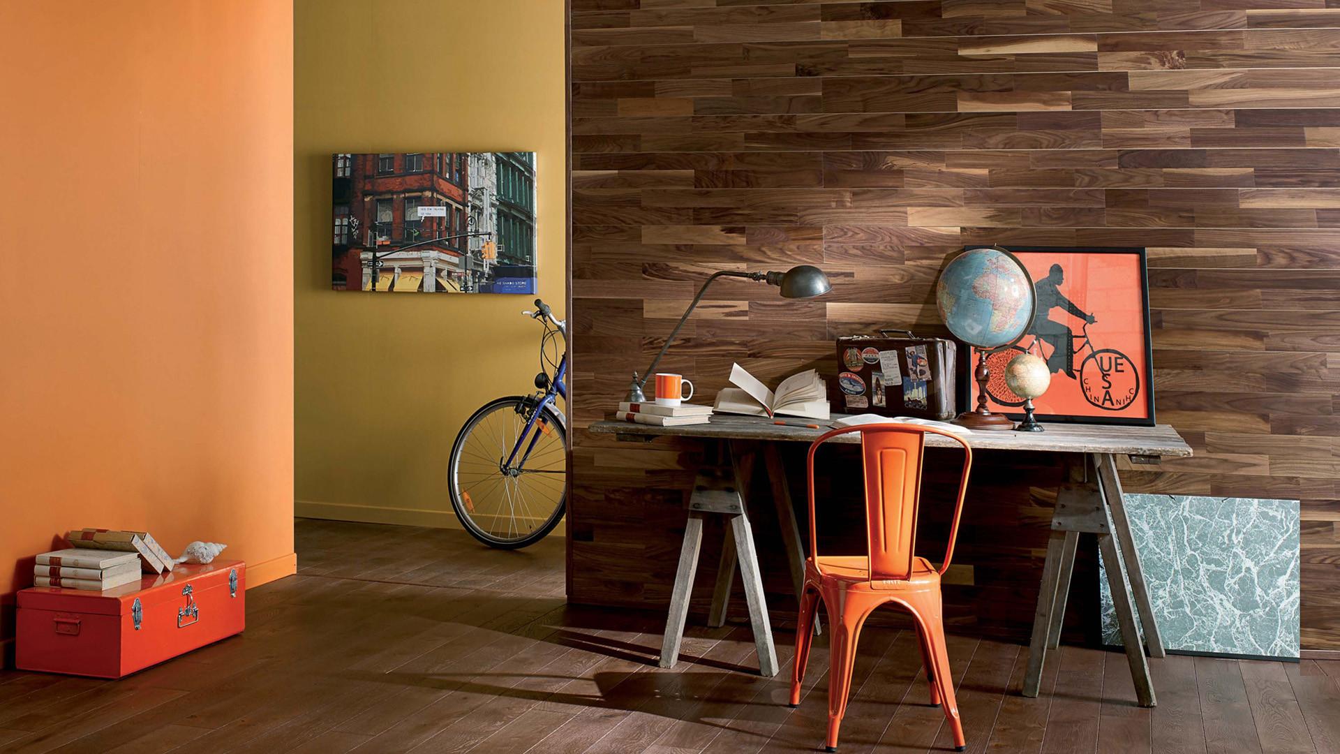 parquet noyer huile naturelle bois mural duo 141. Black Bedroom Furniture Sets. Home Design Ideas