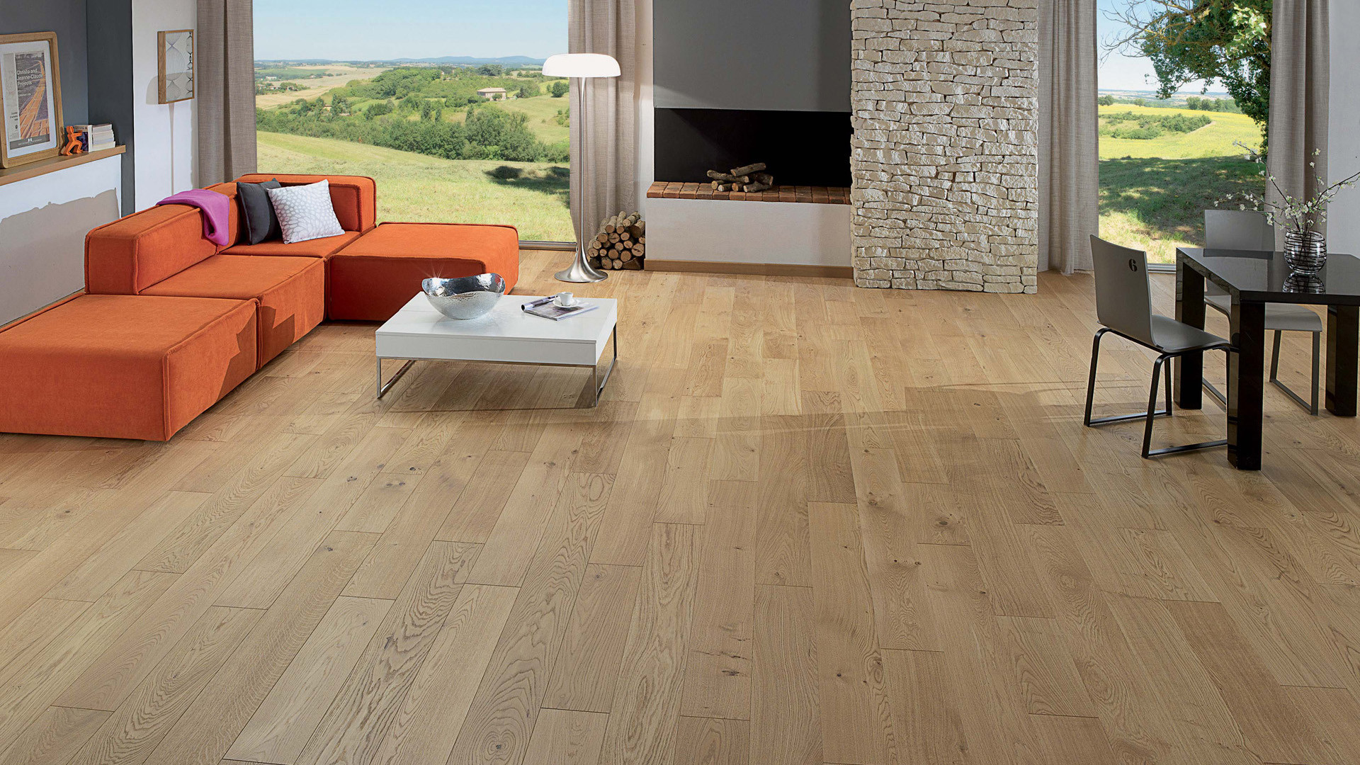 Parquet en French oak Authentic Topaze 14 mm