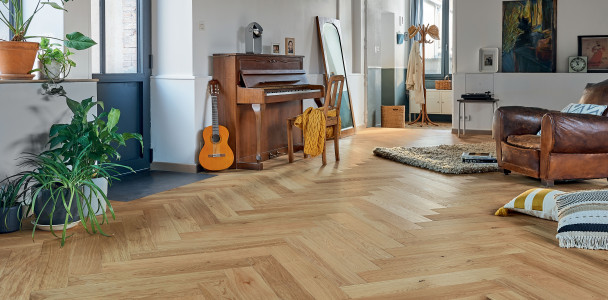 Authentic Topaze French Oak Bâton rompu 139 Wood Floor