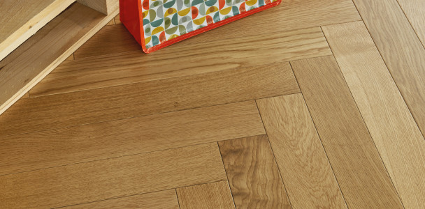 Classic Satin French Oak Herringbone 90 Wood Floor