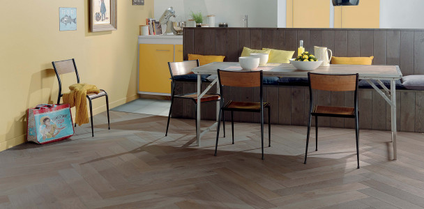 Zenitude Flanelle French Oak Herringbone 139 Wood Floor
