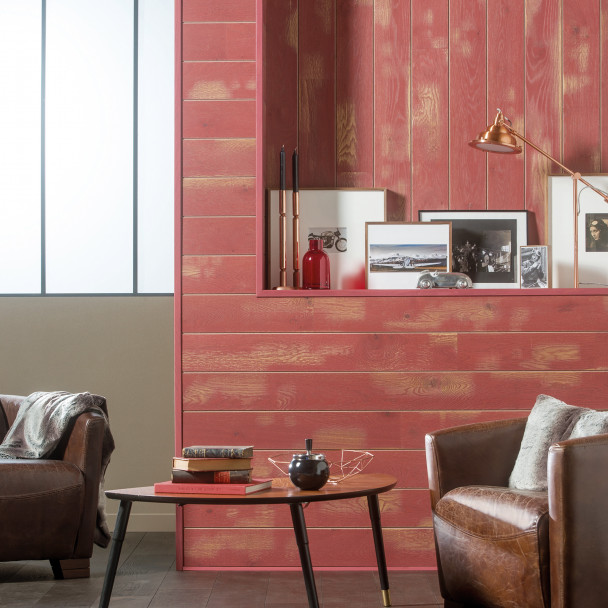 Cabane French oak Red Wall panelling 141