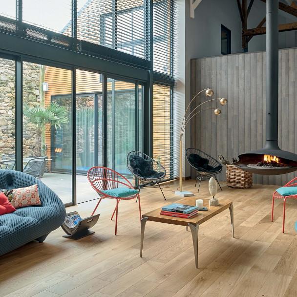 parquet chambre h tel parquets bois chambre d 39 h tel massif et contrecoll sur panaget. Black Bedroom Furniture Sets. Home Design Ideas