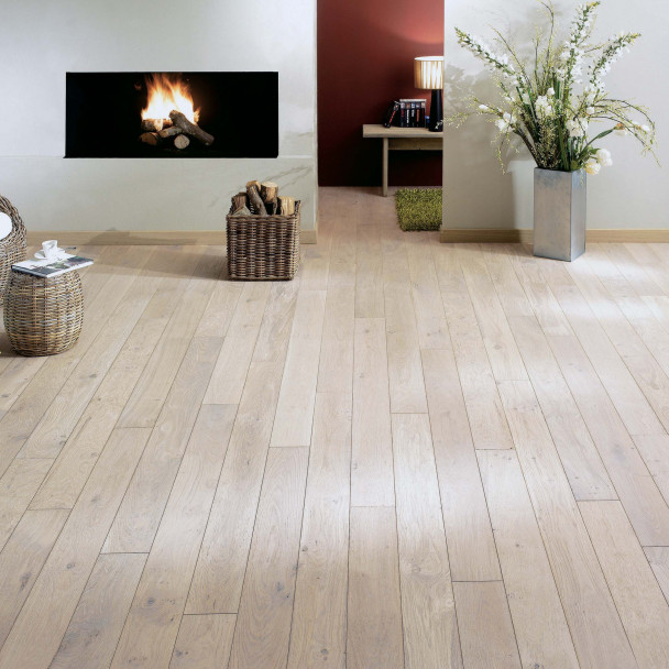 Zenitude White oil French Oak Sonate 140 Solid Wood Floor