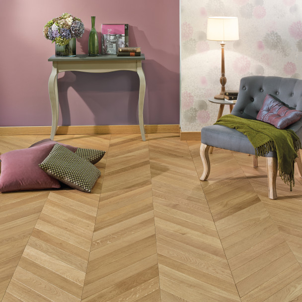 Classic/Nature Topaze French Oak Point de Hongrie Wood Floor