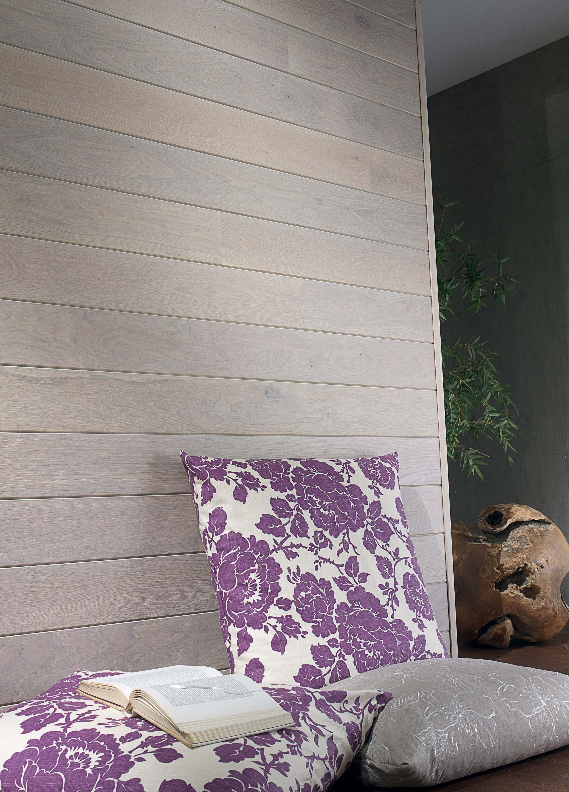 parquet ch ne huile blanche bois mural 141. Black Bedroom Furniture Sets. Home Design Ideas
