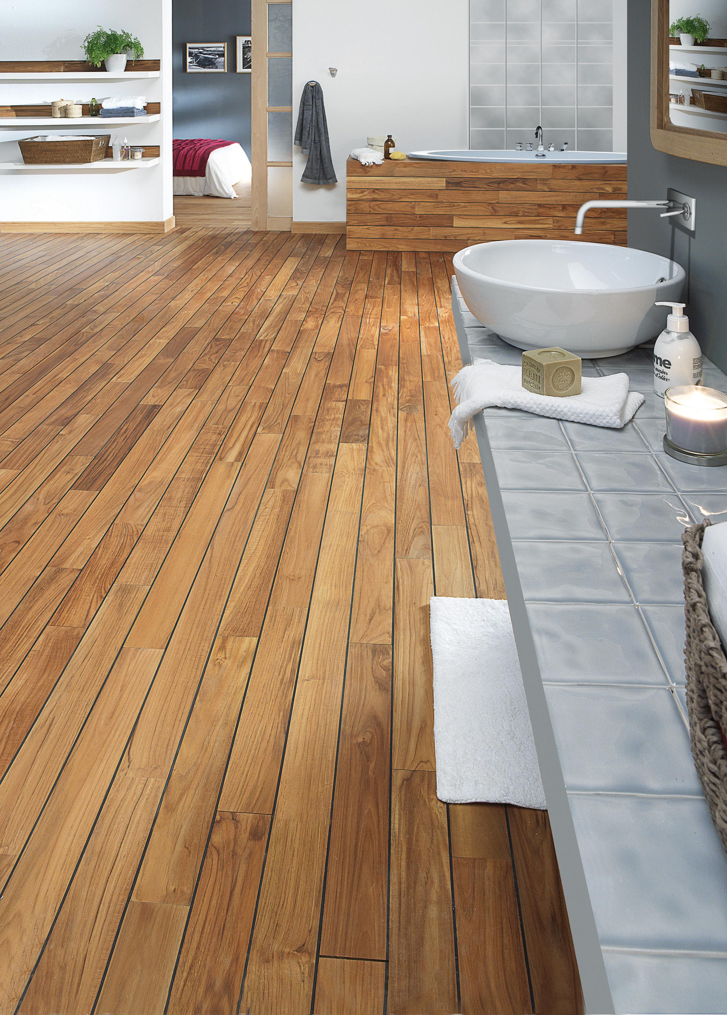 Floor teak pre oiled ulysse - Entretien parquet teck salle de bain ...